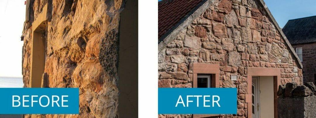 Old Stonemasonry Render Removed